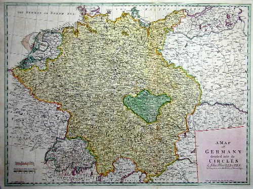Kitchin (Kitchen)  A map of Germany devided into its cercles