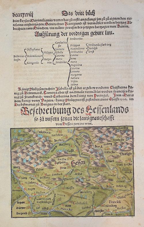 Münster  Bescheibung des Hessenlands so zu unsern Zeiten die Landgraueschafft von Hessen genant wirt.
