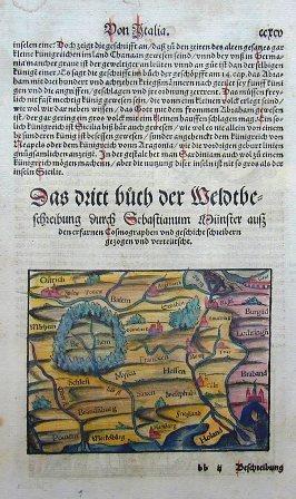 Münster  Das virt Buch der Weldtbeschreibung durch Sebastianum Münster aus den erfarnen Cosmographen….