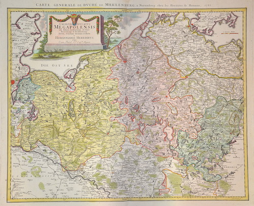 Homann Erben  Charta ducatus Megapolensis…