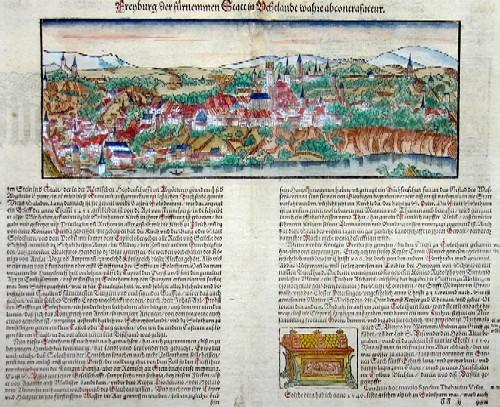 Münster Sebastian Freyburg der fürnemmen Statt in Uchtland wahre abcontrafactur
