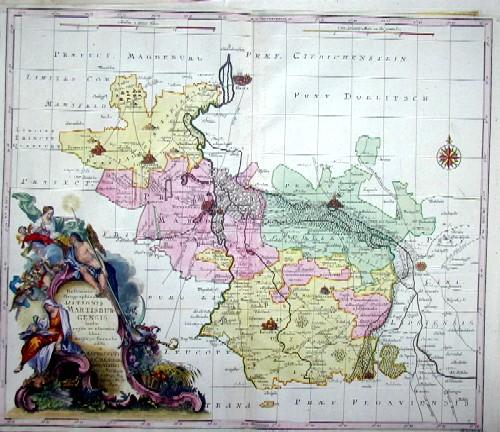 Lotter Tobias Conrad Delineatio Geographica Ditionis Martisburgensis hodie regiis et electoralibus auspiciis florentis edita…