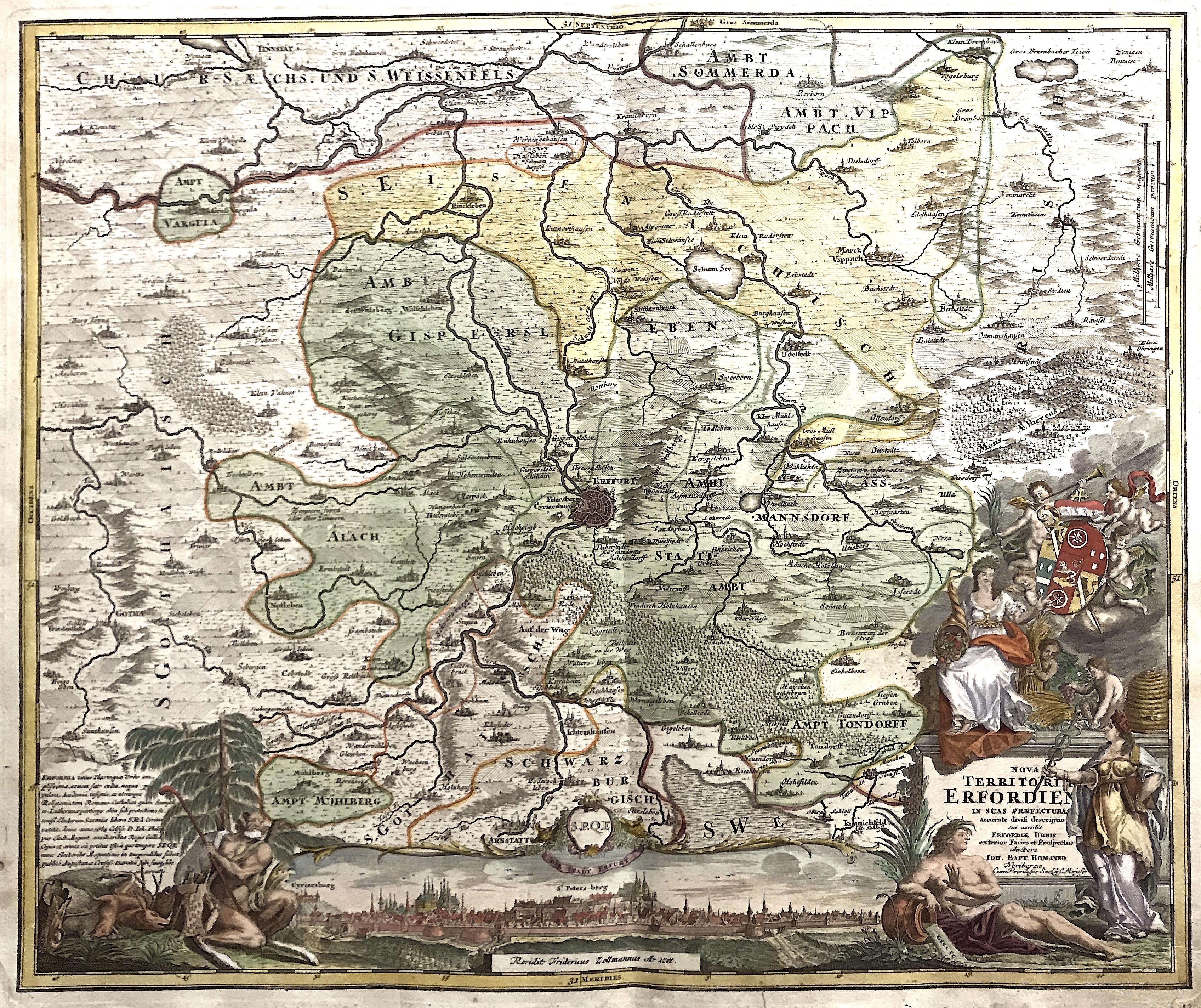 Homann  Nova Territori Erfordien in suas Praefectura……