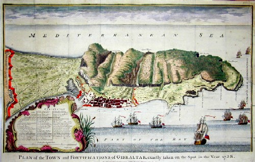 Rapin de Thoyras  Plan of the Town and Fortifications of Gibraltar, exactly taken on the Spot in the Year 1738
