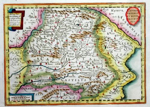 Kaerius  Castiliae veteris et novae descriptio