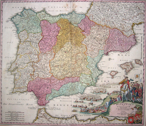 Homann  Regnorum Hispaniae et Portugalliae tabula generalis…