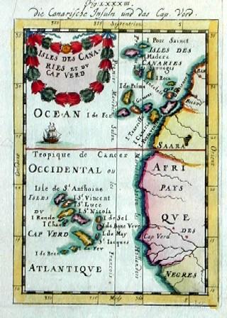 Mallet  Isles des Canaries et du Cap Verd