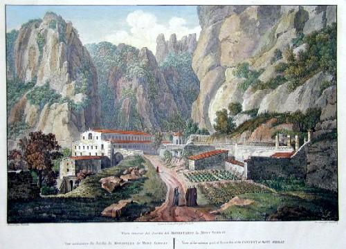 Desaulx J. Vista interrior dell Jardin dell Monestario de Mont-Serrat