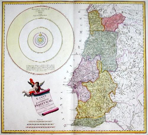 Reilly Franz Johann Joseph Karte von dem Königreiche Portugal