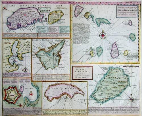 Bowen Emanuel Particular Draughts of some of the chief African Islands in the mediterranian, as also in the Atlantic and Ethiopic oceans