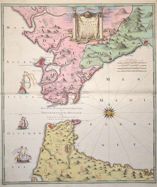 Homann  Carte nouvelle De L´isle de Cadix & du Detroit de Gibraltar….