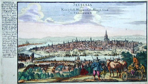 Bodenehr Johannes Georg Seuilla die Königlich-Hispanische Haupt-Statt in Andalusien
