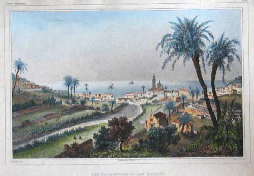 Champin  Vue de la Ciudad de Las Palmas