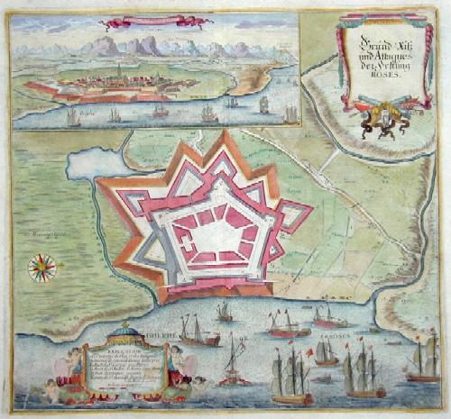 Anonymus  Grund-Riß und Attaques der Festung Rosses