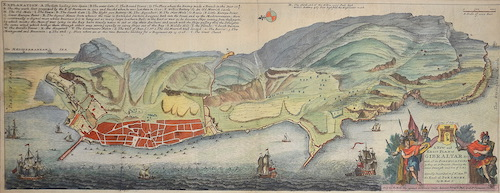 Moll  A New and Exact plan of Gibraltar with all its fortifications as they are at present….