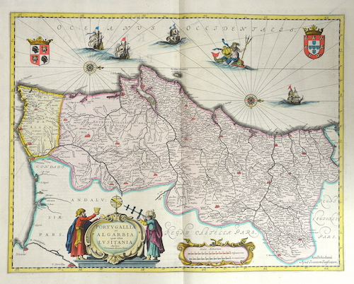 Janssonius  Portugalia et Algarbia quae olim Lusitania
