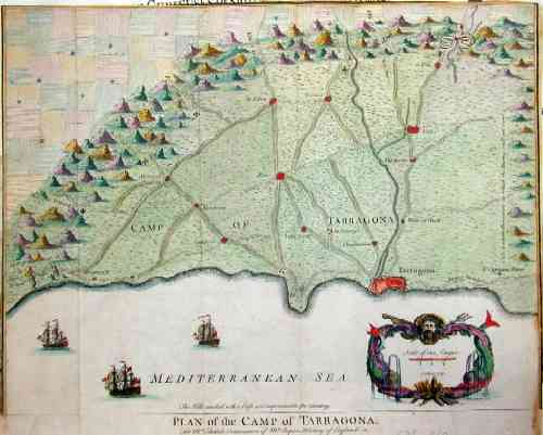 Rapin de Thoyras  Plan of the camp of Tarragona