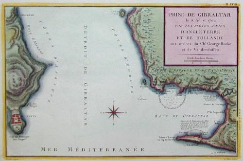 Bouclet  Prise de Gibraltar le 5 aust 1704. Par les flotes unies d´Angleterre et de Hollande