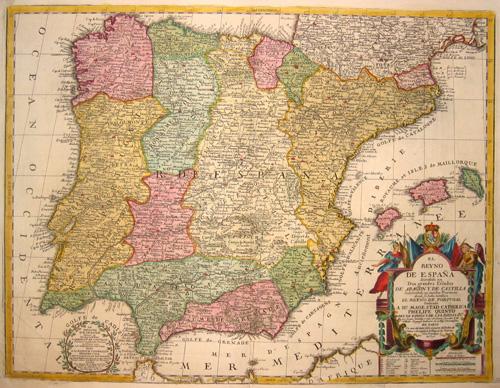Nolin Jean Baptiste El Reyno de Espana Dividido en Dos Grandes Estados De Aragony De Castilla……..