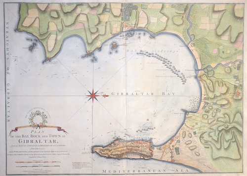 Faden  Plan of the Bay, Roque and town of Gibraltar…….