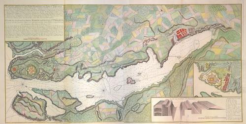 Homann Erben  Plan de la Ville et du Port Mahon et du Fort St. Philippe/ Plan der Statd und des Hafens Mahon und des Forts St. Philippe
