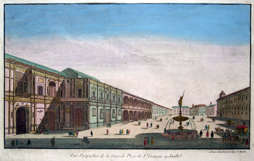 Daumont Jean-Francois Vue perspective de la grande place de St. Francoise a Seville