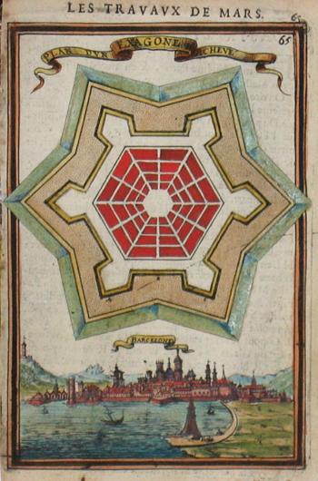 Mallet  Plan d un Exagone Acheve/ Barcelone