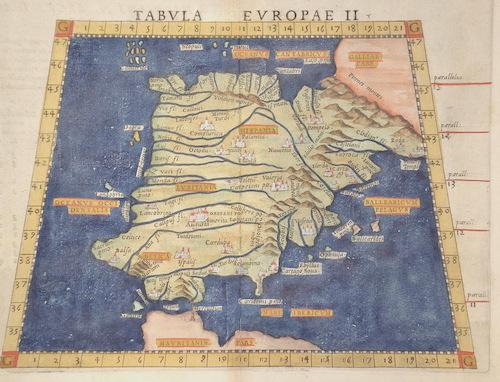 Ruscelli  Tabula Europae II / della geographia di Tolomeo