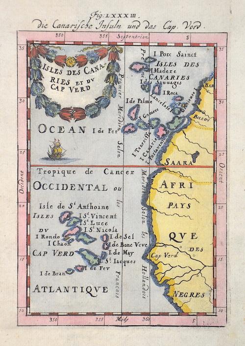 Mallet Alain Manesson Die Canarische Insuln und das Cap Verd