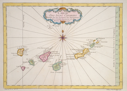 Bellin  Carte Des Isles Canaries