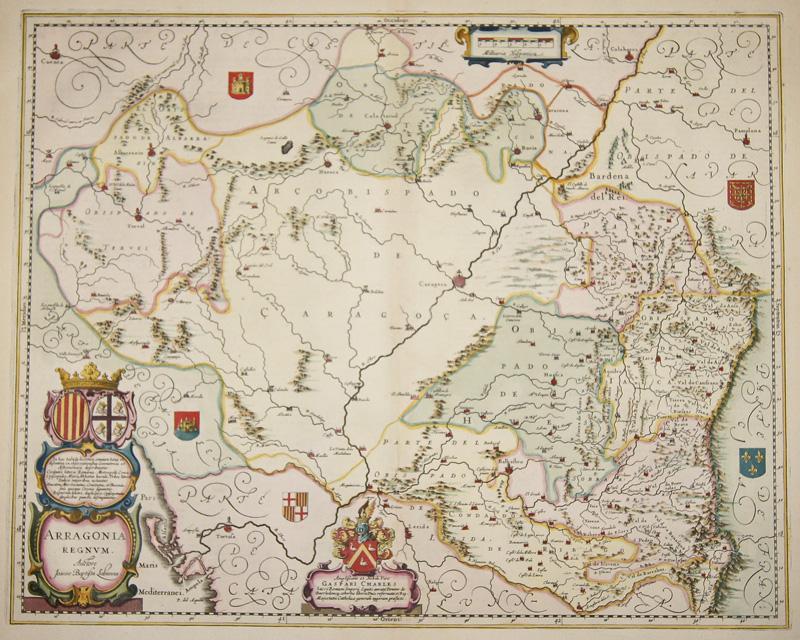 Janssonius/Mercator-Hondius, H.  Arragonia regnum auctore Joanne Bebtista Sabanna