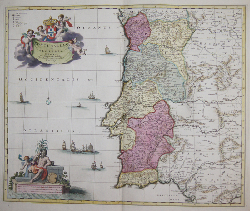 Visscher Nicolas Portugalliae et Algarbiae regna