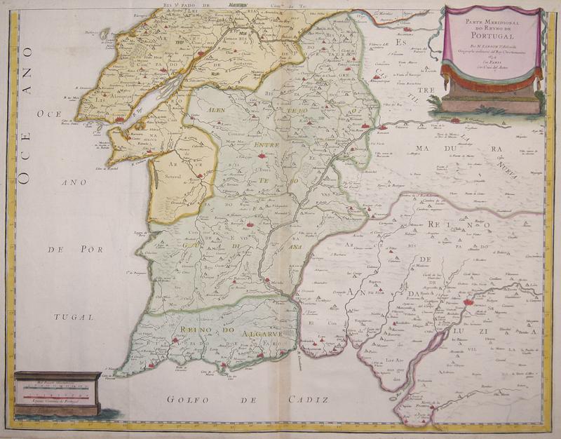 Sanson Nicolas Parte Meridional do Reyno de Portugal