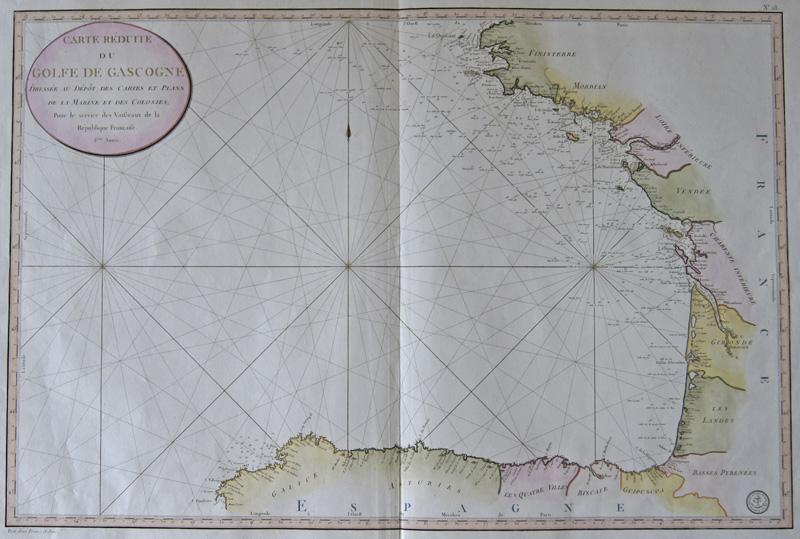 Collin E. Carte reduite du Golfe de Gascogne…