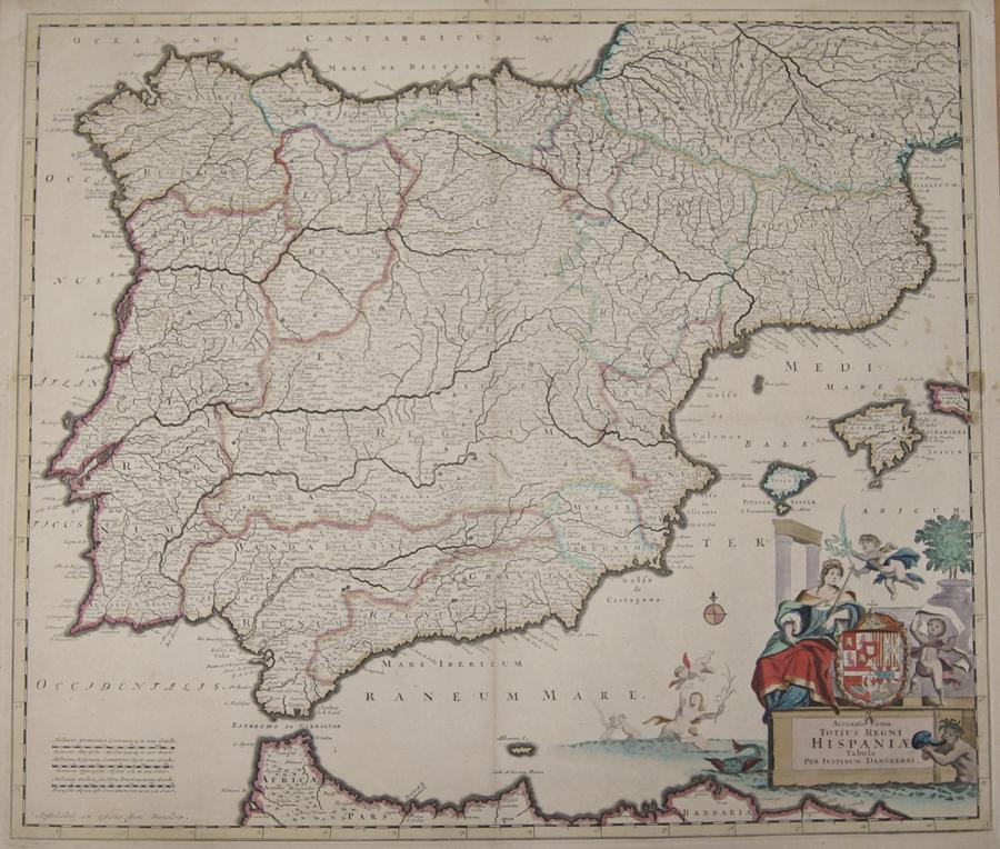 Danckerts Justus Accuratissima Totius Regni Hispaniae Tabula
