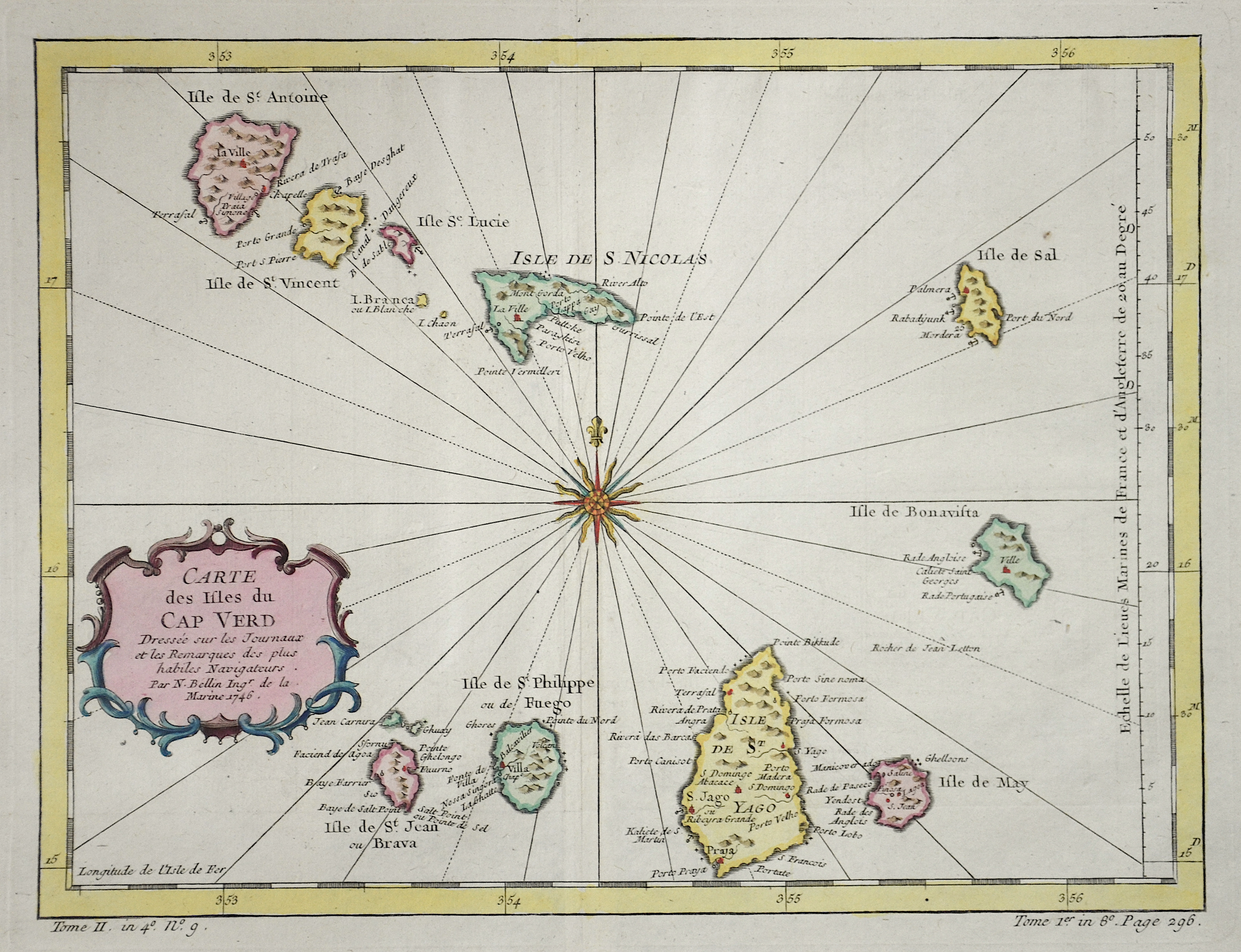 Bellin  Carte des Isles du Cap Verd