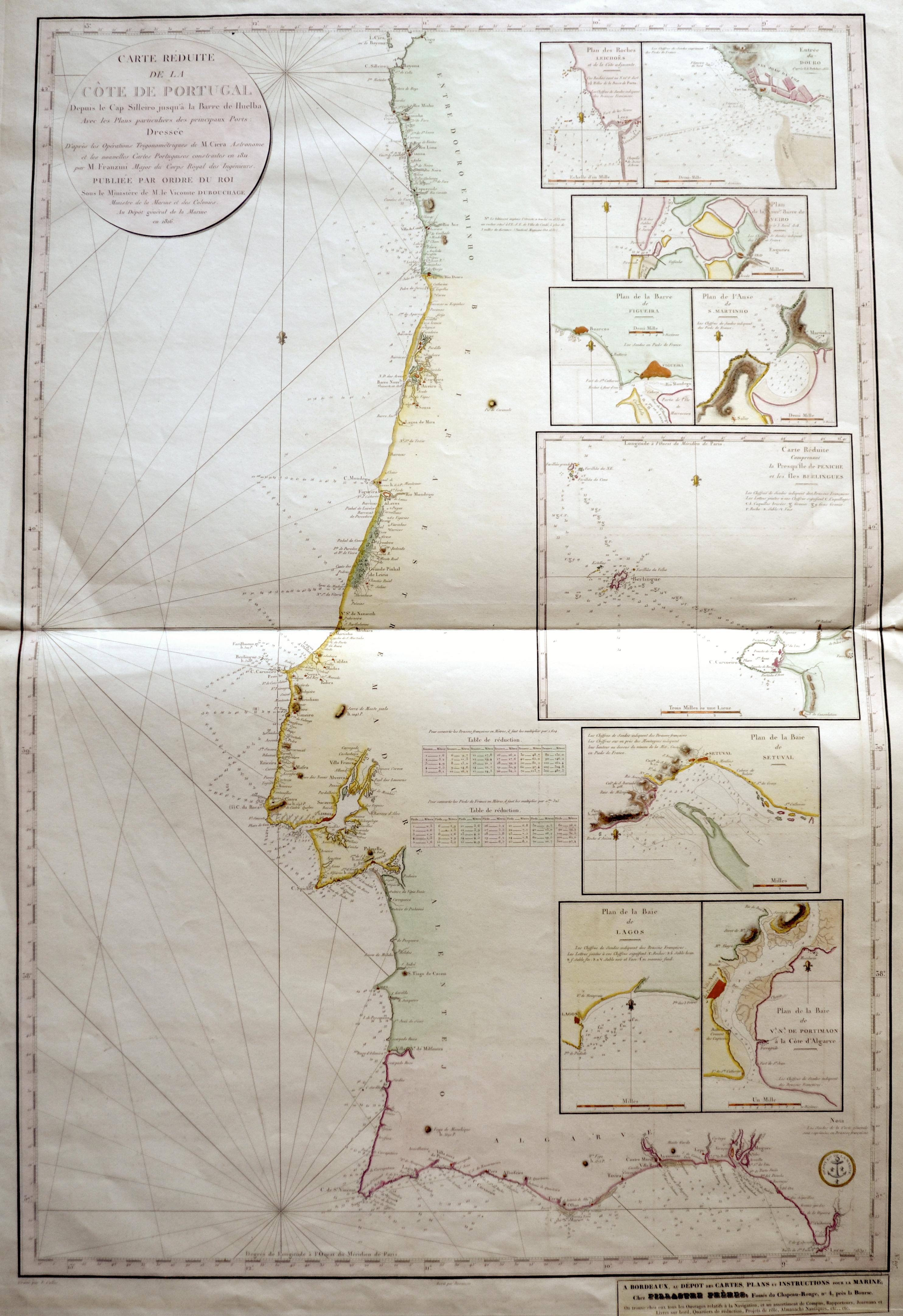 Depot de la Marine  Carte Réduite de la Còte de Portugal