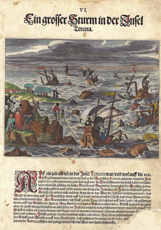 Bry, de  Ein grosser Sturm in der Insel Tercera.