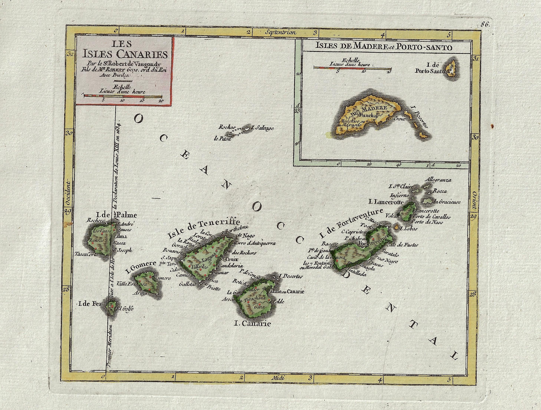 Vaugondy,de  Les Isles Canaries / Isles de Madere et Porto-Santo