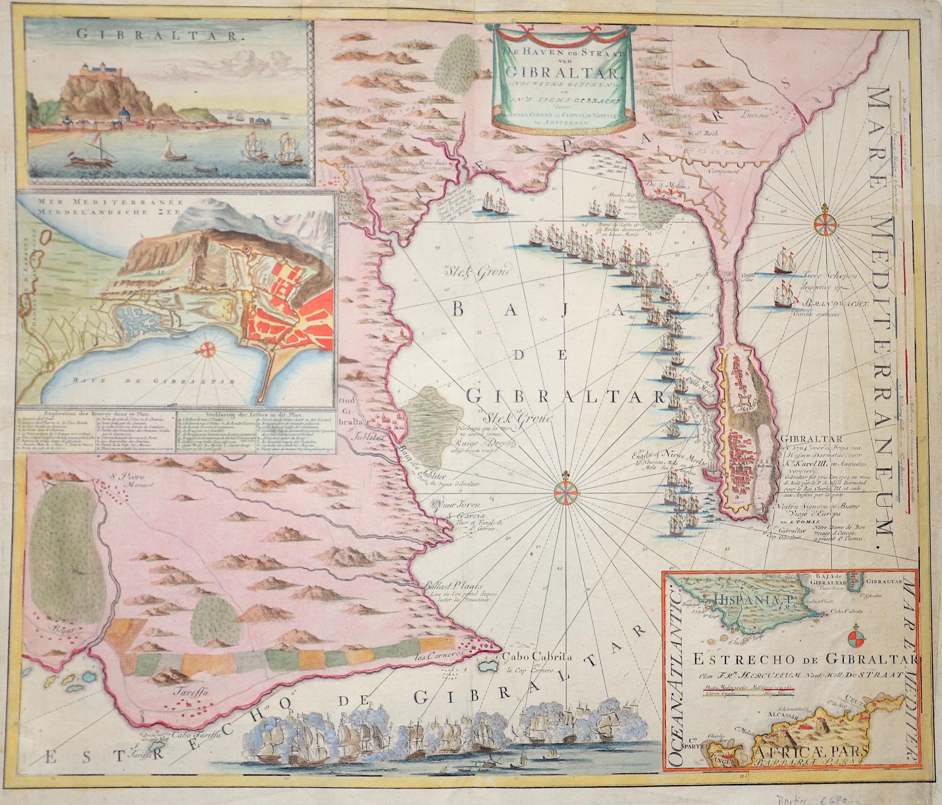 Covens/ Mortier Jean/ Corneille De Haven en Straat van Gibraltar.