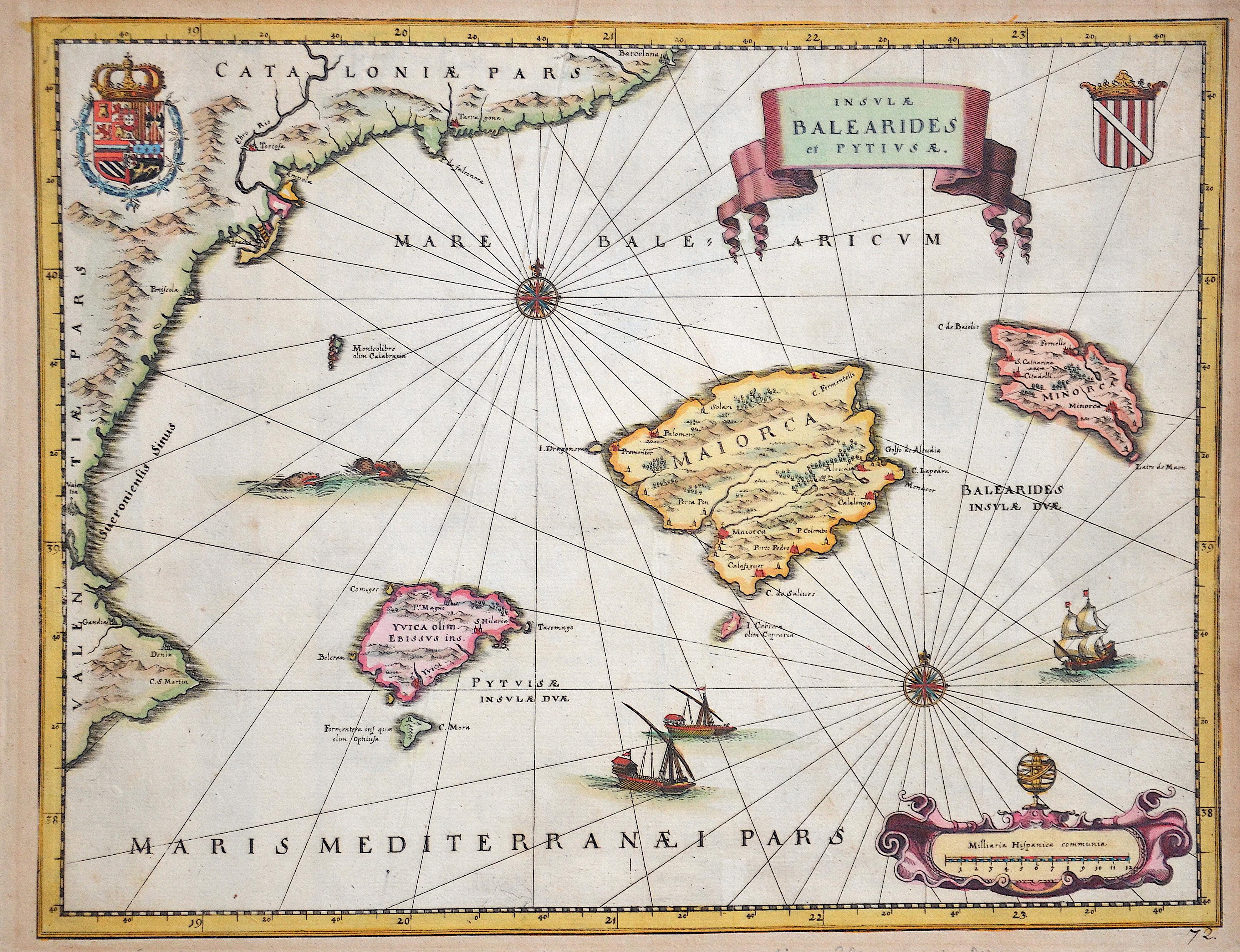 Merian Matthäus Insulae Balearides et Pytiusae.