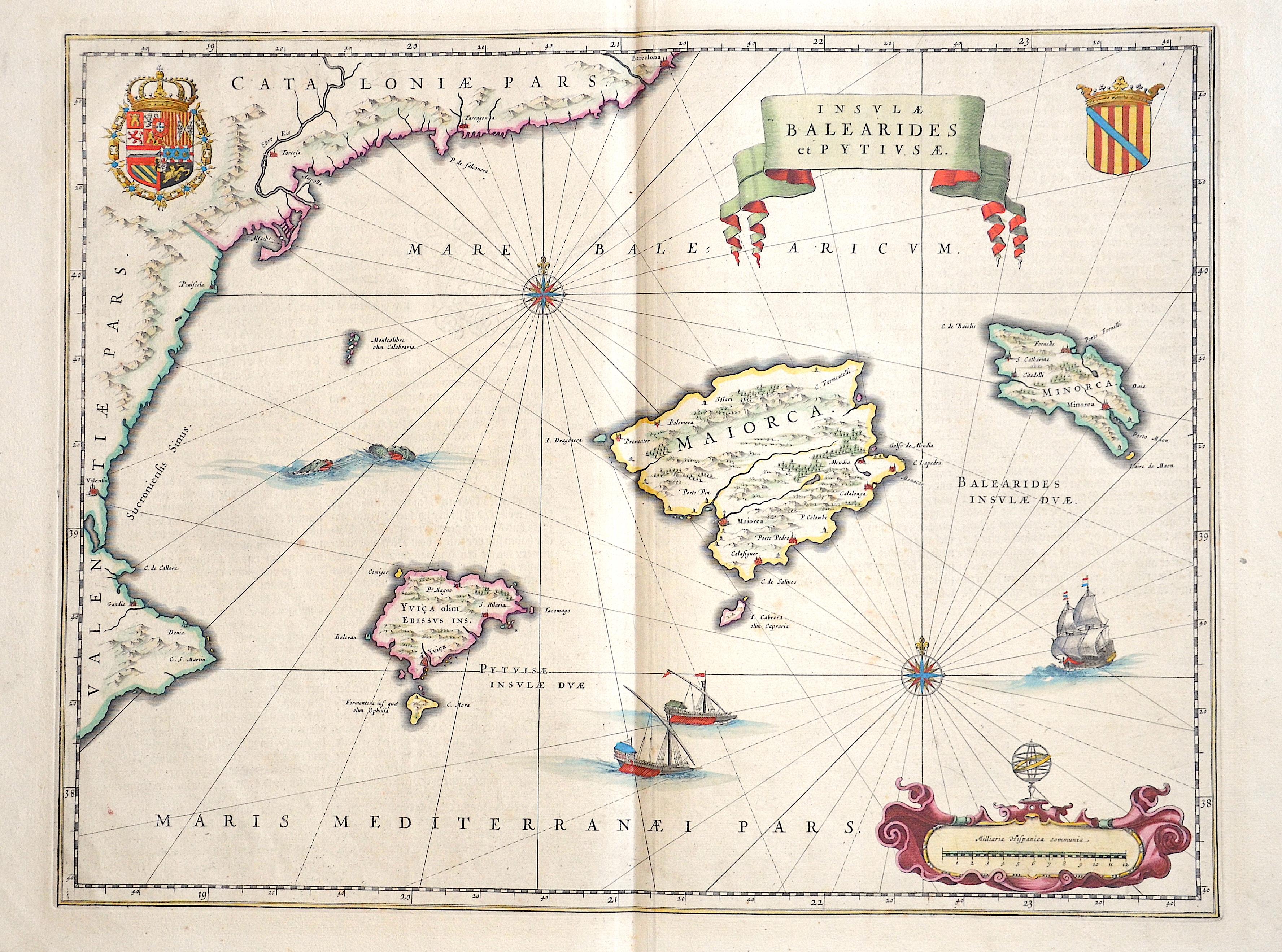 Blaeu Willem Janszoon Insulae Balearides et Pytivsae.
