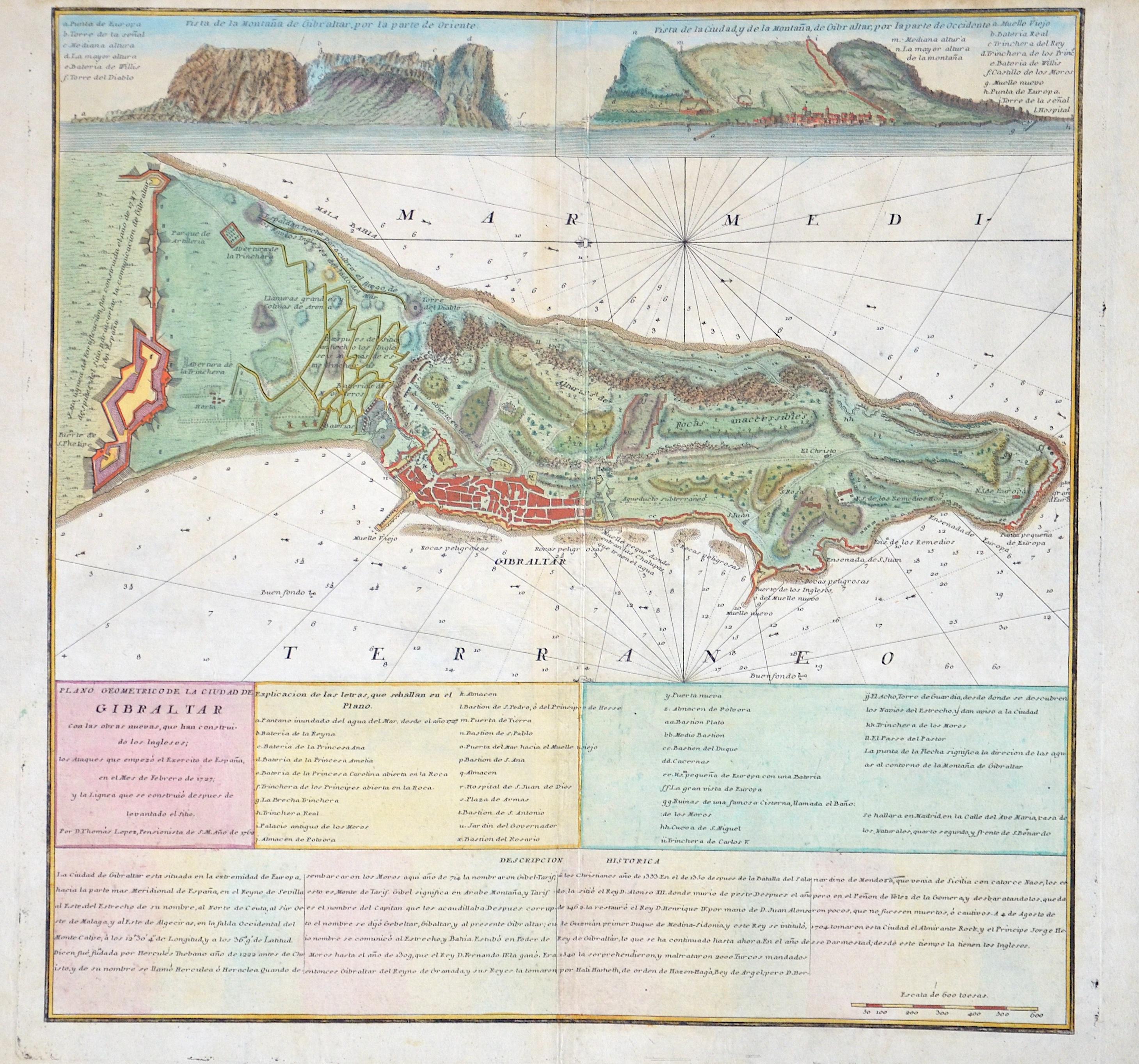 Lopez D. Thomás Plano Geometrico de la Ciud ad de Gibraltar.