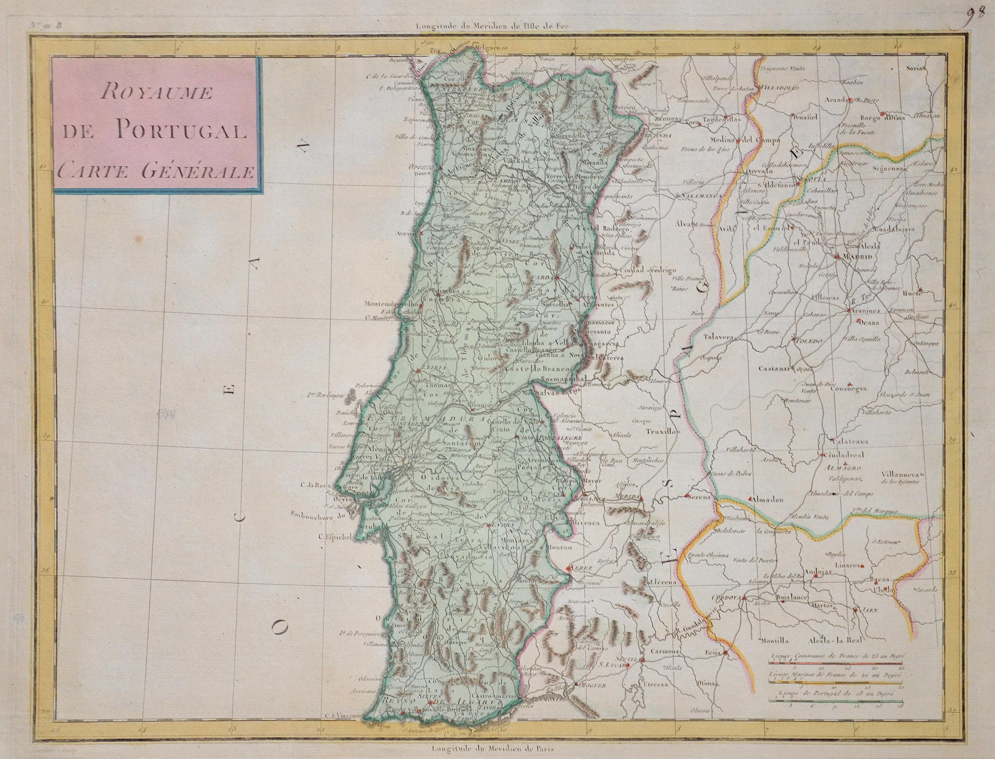 Tardieu Ambroise Royaume de Portugal Carte Générale
