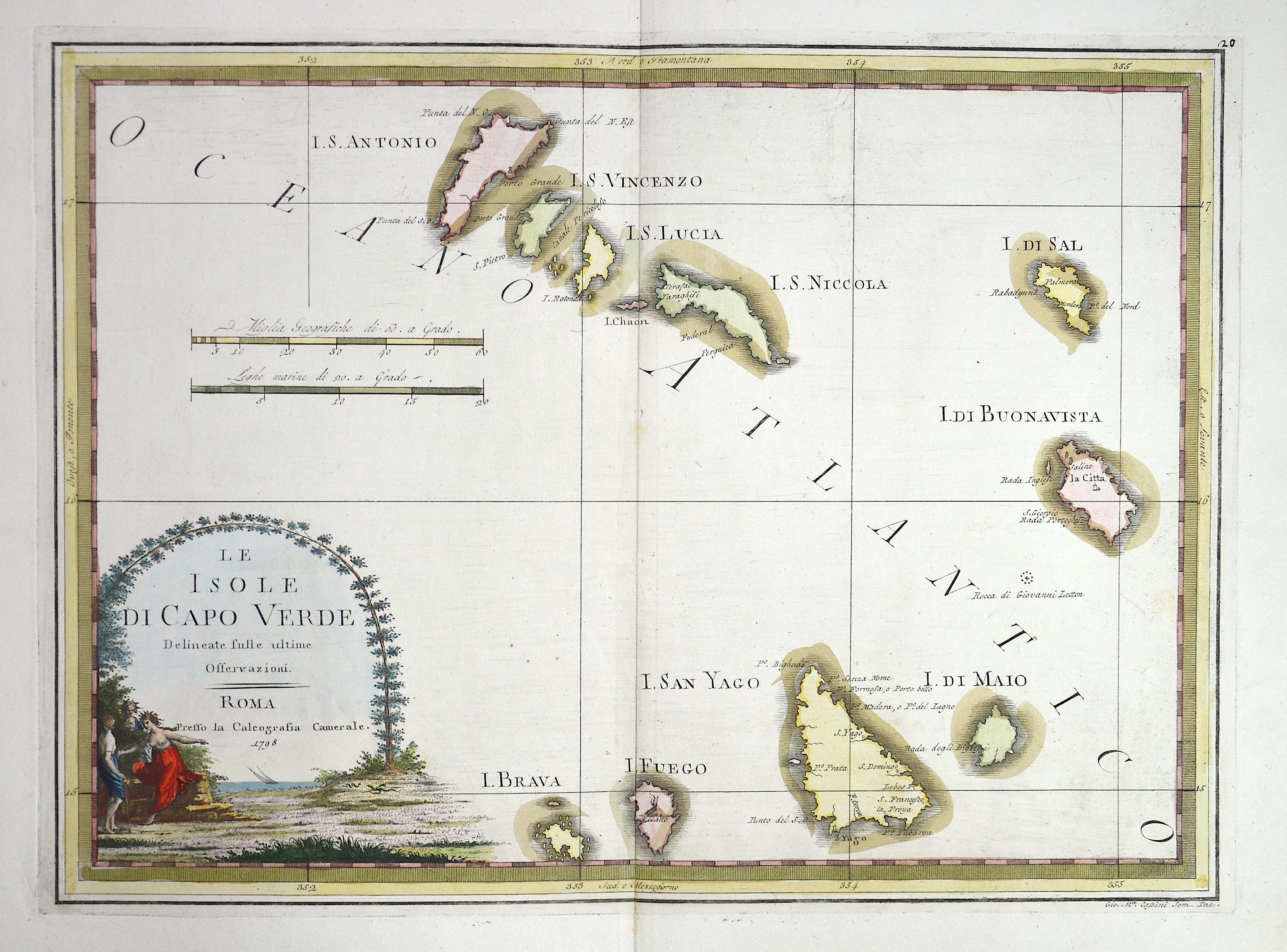 Cassini  Le Isole di Capo Verde Delineate fulle ultime Offervaziono.