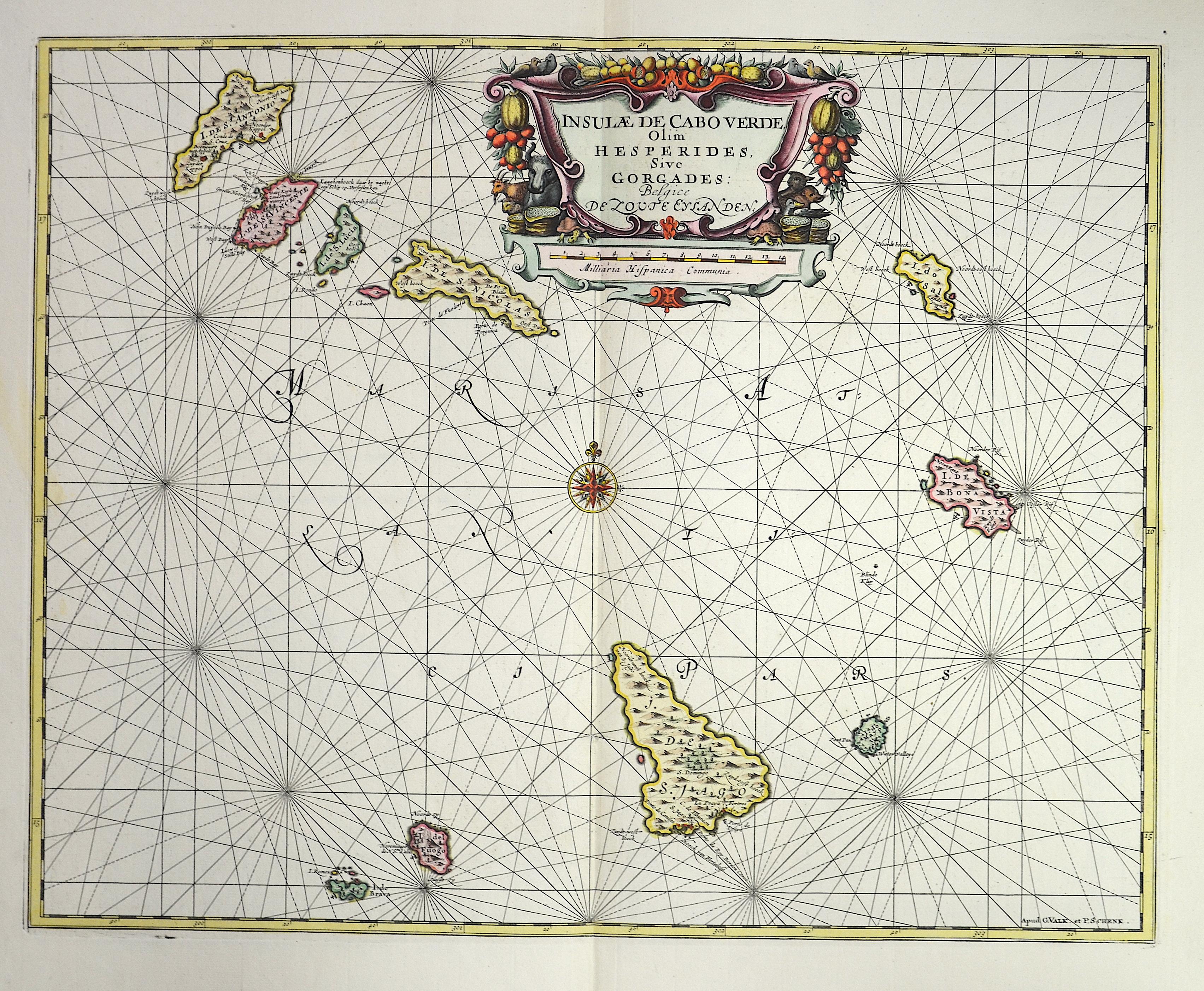 Valk/ Schenck Peter  Insulae de Cabo Verde Olim Hesperides, Sive Gorgades.