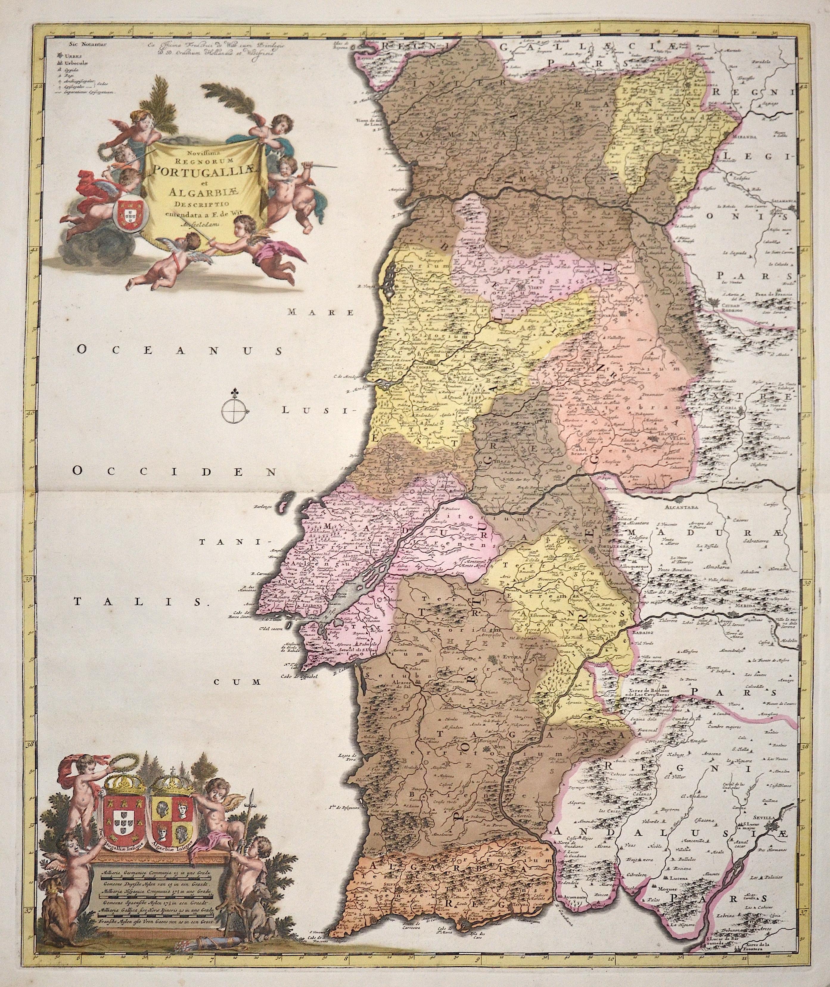 Wit, de Frederick Novissima Regnorum Portugalliae et Algarbiae
