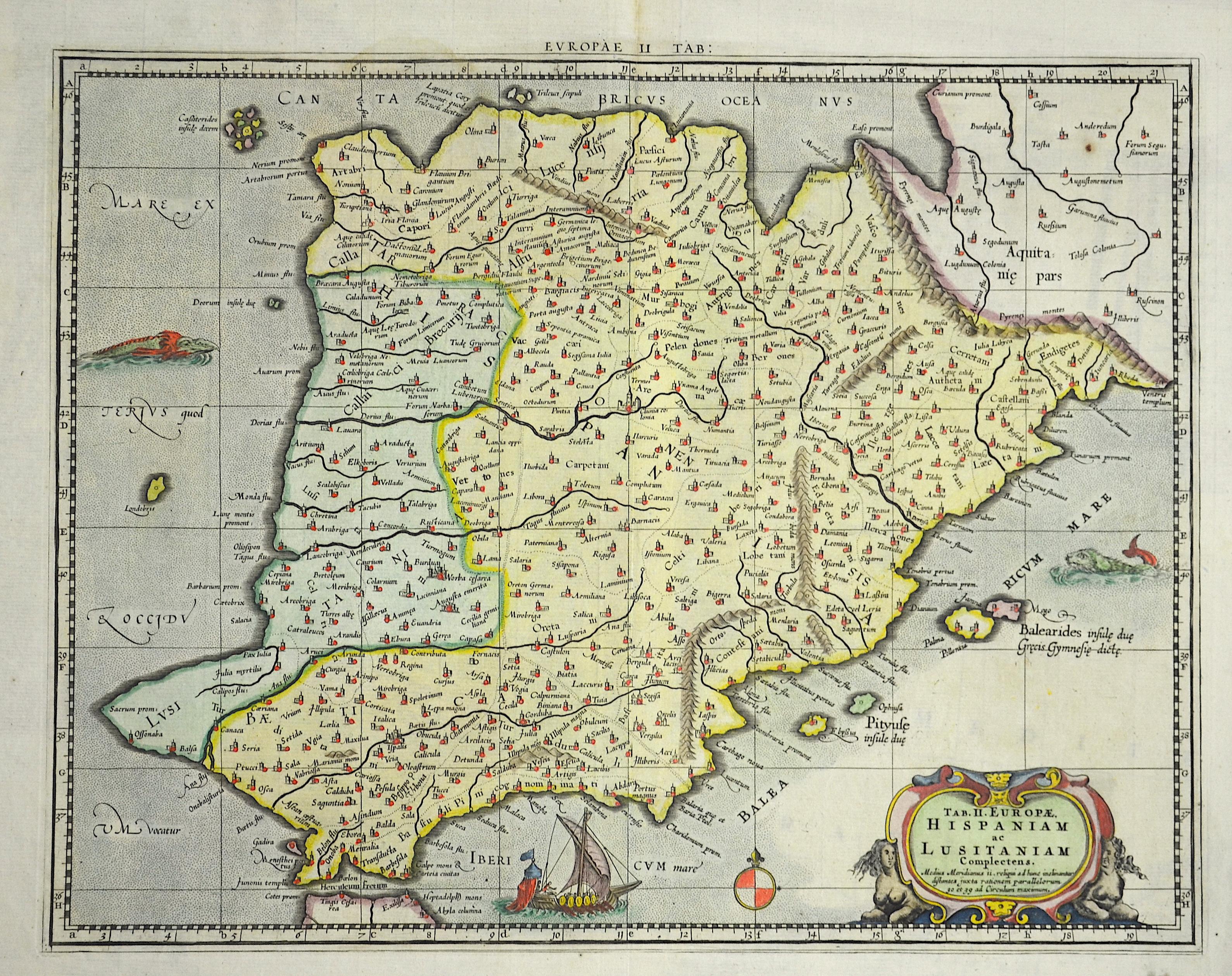 Ptolemy/ Gerhard Mercator Claudius Tab. II. Europae, Hispaniam ac Lusitaniam Complectens.
