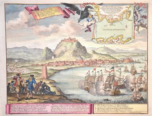 Marchand  Das im vorig und jetzigem Jahr von Spanisch und Französischen Generalen gewaltig bestürmte und durch den Landgrafen von Hessen…..beschirmte Gibralta
