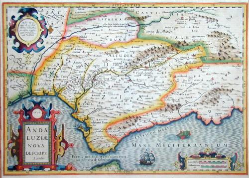 Hondius  Andaluziae nova descript